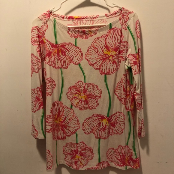 Lilly Pulitzer Tops - Lilly Pulitzer Clover Cup top, size M
